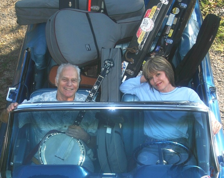 BLUEGRASS BANJO KING:  The great Eddie Adcock and his musical partner and wife, Martha, plays March 25 at Last Stage West and March 26 at a house concert - near Santa Margarita. - PHOTO COURTESY OF EDDIE AND MARTHA ADCOCK