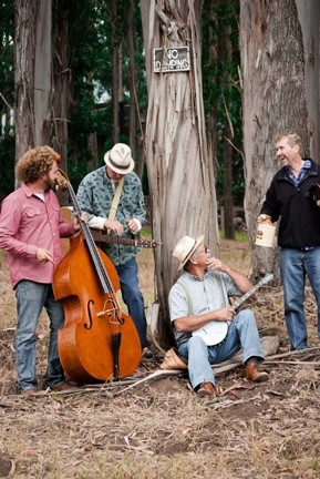 HILL MUSIC :  Yo Pitzy Jug Band performs classic Americana music with family themes at a Red Barn potluck Dec. 31 in Los Osos. - PHOTO COURTESY OF YO PITZY JUG BAND