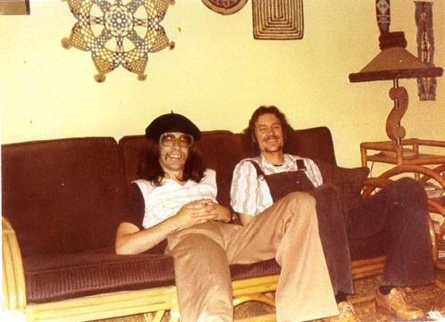 CIRCA 1977 :  Jethro Tull founding member Glenn Cornick (left) and local musician John Wessel kick back in the late '70s. The old friends will play as Locomotive Breath on Nov. 14 at Cambria Pines Lodge, doing a tribute to the music of Jethro Tull. - PHOTO COURTESY OF JOHN WESSEL