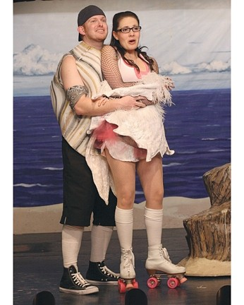 A CLAM AND A GULL FALL IN LOVE :  Under The Boardwalk plays at the Great American Melodrama, Highway One in Oceano, through June 14. What happens when a clam and a gull fall in love? Following is the Medicine Tonight Vaudeville Revue, 30 minutes of songs, sketches, and dancing all aimed at lightheartedly skewering the medical profession. $17-$20, with $2 discount for seniors, students, active military, and $4 discounts for children. Glen (Casey Ross) and Daria (Katie Worley) are pictured. Info: 489-2499 or americanmelodrama.com. - PHOTO COURTESY OF GARY ADAMS
