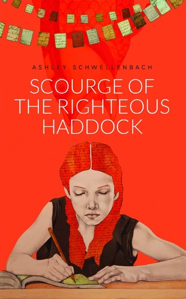 ONE FINE HADDOCK:  Mignon Khargie designed the cover for Scourge of the Righteous Haddock, using artwork created by Lena Rushing. - IMAGE BY MIGNON KHARGIE