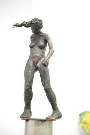 GUN MOLL :  The judges liked this gun-toting gal as well as a similar sculpture with a gun-holding arm coming out of a woman's neck. - PHOTOS BY GLEN STARKEY