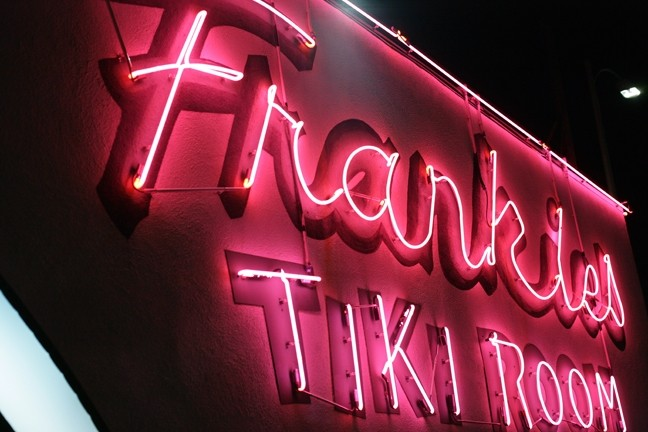 FAMOUS FRANKIE'S:  We start our fun in Frankie's Tiki Room with two couples—Kim and Jason from SLO Town, and Gilbert and Esther from Guadalupe. - PHOTOS BY GLEN STARKEY