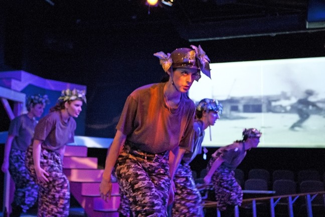 WIPEOUT! :  A Beach Boys hit becomes the soundtrack to a generation of young people preparing for the Vietnam War in the original musical My Generation! - PHOTOS BY STEVE E. MILLER