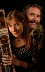 TWO PEOPLE, 20 INSTRUMENTS :  Folk duo Four Shillings Short brings their diverse sounds to Coalesce Bookstore on Feb. 6. - PHOTO COURTESY OF FOUR SHILLINGS SHORT