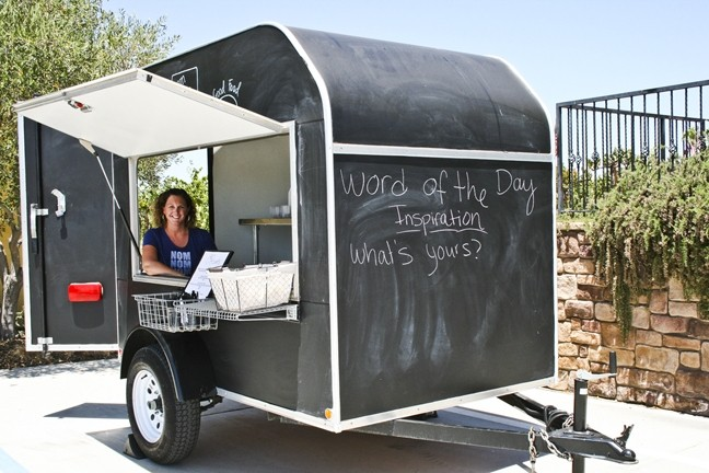 POWER COUPLE:  Kate Swarthout owns Nom Nom Nom The Good Food Truck alongside her husband and Second Press Restaurant Chef and General Manager Ryan Swarthout. With a bit of ingenuity and elbow grease, the Paso Robles couple has created a diverse menu that belies the slight size of their food truck—which is actually a customized two-wheeler trailer. - PHOTO BY HENRY BRUINGTON