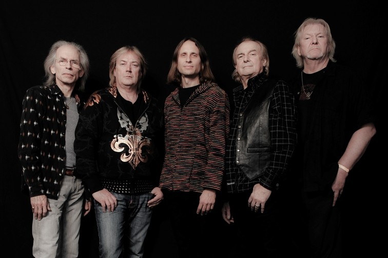 YES! :  (from left to  right) Steve Howe, Geoff Downes, Jon Davison, Alan White, and Chris Squire come to the Vina Robles Amphitheatre on July 6, playing three classic '70s YES album in succession. - PHOTO BY ROB SHANAHAN