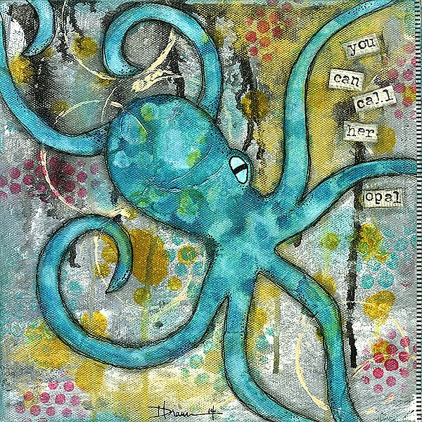 INTUITIVE:  Denise Braun is a mixed media artist who designed a creative guidance system called ARTuition that helps people to understand their moods. She said she paints to reflect happiness and healing in her work, which she sells at artshopcc.com - PHOTO COURTESY OF DENISE BRAUN
