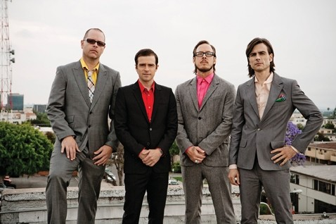 PARTY LIKE IT'S '94 :  Weezer is revving to bring the noise at Vina Robles Amphitheater this Friday, Sept. 12. - PHOTO COURTESY OF WEEZER