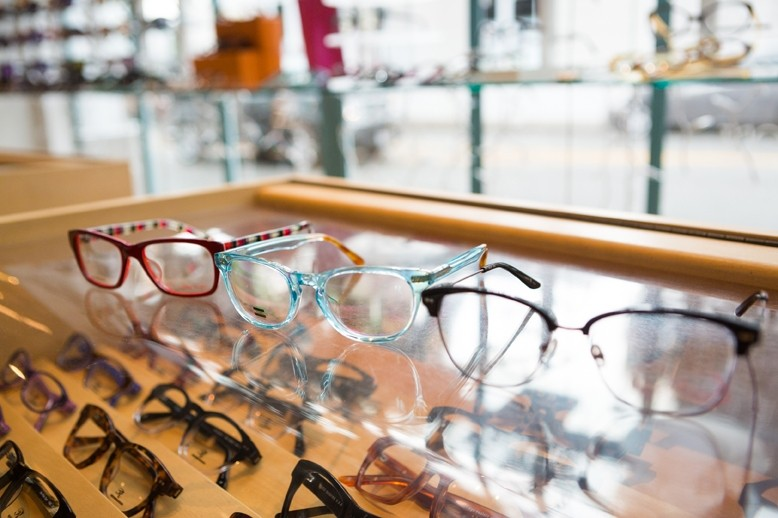 GLASSES AT URBAN OPTICS: - PHOTO COURTESY URBAN OPTICS