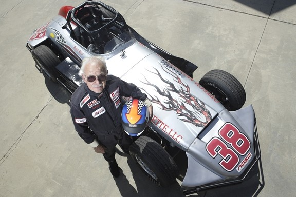 SMOOTH :  Ralph Bush knows the way around a track: He's road raced since 1957. - PHOTO BY STEVE E. MILLER