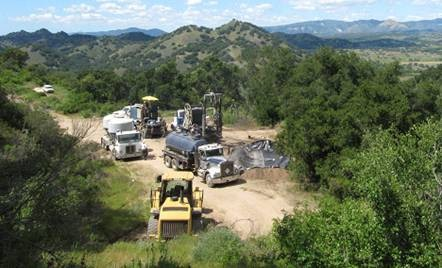 OLD MESS :  California Department of Conservation spent $320,000 cleaning up derelict drilling equipment left by Deuel Petroleum in Huasna Valley. - PHOTO COURTESY OF DOGGR