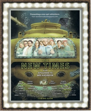 ASHLEY'S MINIONS :  This mocked-up photo of the New Times staff is one of Managing Editor Ashley Schwellenbach's Bill Murray-related ideas foisted on her crew. - PHOTO ILLUSTRATION BY ALEX ZUNIGA