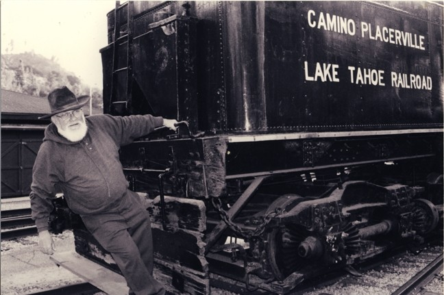 RIDE THE RAILS :  Dave Baumgarten will perform railroad and hobo songs during three concerts hosted by the Central Coast Railroad Festival Oct. 8 to 10. - PHOTO COURTESY OF DAVE BAUMGARTEN