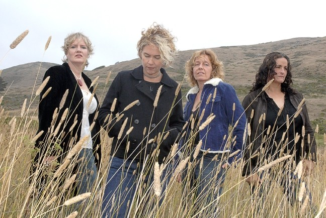 GRRL'S RULE :  Indie-pop folk artists Blame Sally, a quartet that sings in stunning four-part harmony, plays the Henry Miller Library in Big Sur on July 26. - PHOTO COURTESY OF BLAME SALLY