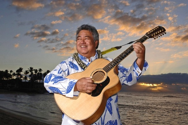SLACK KEY MASTER! :  On March 9 in Cal Poly's Spanos Theatre, slack key guitar master George Kahumoku, Jr. will headline an evening of Hawaiian music and culture. - PHOTO BY MATT THAYER; COURTESY OF GEORGE KAHUMOKU JR.