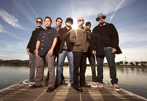 DANCE FEVER :  On Dec. 3, world beat, Latin, dance powerhouse Ozomatli returns to SLO Brew. - PHOTO COURTESY OF OZOMATLI