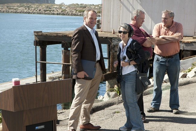 IN THE SPOTLIGHT :  State Sen. Sam Blakeslee was interviewed by National Public Radio's Ina Jaffe in Morro Bay. - PHOTO BY STEVE E. MILLER