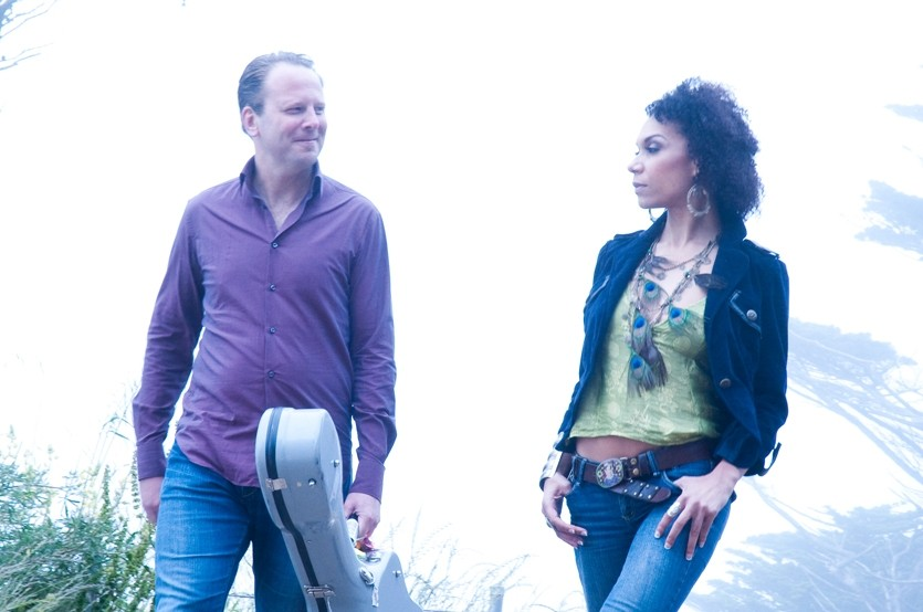 PERFECT PAIRING :  Acoustic self-taught guitar wiz Brian Gore and stunning vocalist Scheherazade Stone—known together as The Sing Strings—will present an evening of folk, jazz, and classical music at Coalesce on Oct. 23. - PHOTO COURTESY OF BRIAN GORE AND SCHEHERAZADE STONE