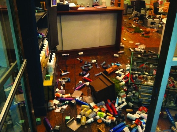 THE AFTERMATH: - PHOTO COURTESY OF ARIEL SHANNON