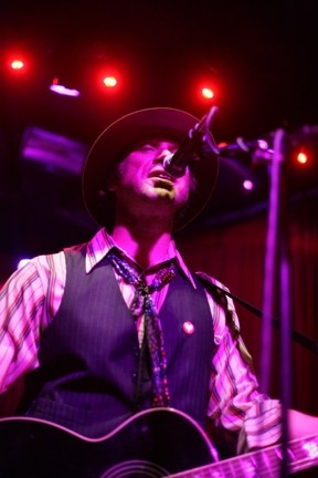 NASHVILLE HERO:  Todd Snider charms the crowd with his hilarious songs on March 27 at SLO Brew. - PHOTO BY GLEN STARKEY