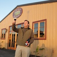 TOAST OF THE TOWN :  Bryan (pictured) and Martin Friedman's winery is a welcome new arrival in Pismo Beach. - PHOTO BY STEVE E. MILLER