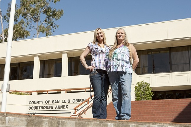 "MISSED IT BY THIS MUCH :  The SLO County District Attorney's Office failed to meet a deadline to appeal the dismissal of the marijuana-related charges against mother and daughter co-defendants Rianna (left) and Shelly Allred, members of the so-called ""Doobie Dozen."" - PHOTO BY STEVE E. MILLER"