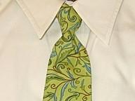 TUXANDTULLE :  Green and paisley style men's necktie, $22 - PHOTO COURTESY OF TUXANDTULLE