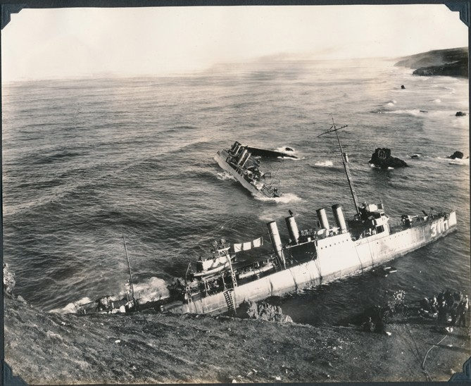 Click To Enlarge PILE UP: Seven U.S. Navy Destroyers Sank Sept. 8, 1923, On  A. PHOTO COURTESY OF THE HISTORY CENTER OF SLO ...