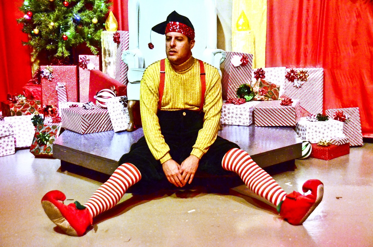 click to enlarge elfie portrait the slo little theatres managing artistic director kevin harris - David Sedaris Christmas