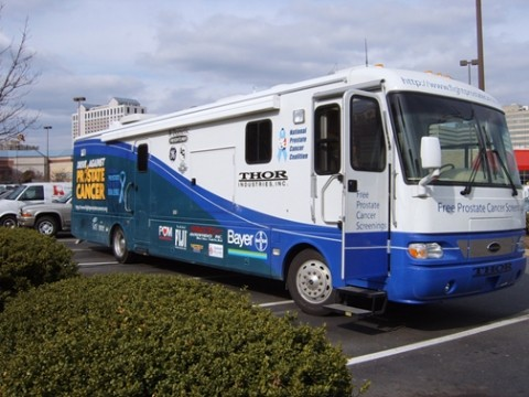 THE WHEELS ON THE BUS :  The National Prostate Cancer Coalition's mobile screening unit may roll through SLO later this year. In the meantime, men can take action to reduce their risk of death from prostate cancer. - PHOTO COURTESY OF THE NATIONAL PROSTATE CANCER COALITION