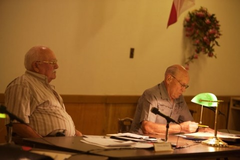 TOTAL RECALL :  Directors Fred Rahner (right) and Ted Ortega (left) along with CSD board president Tammy Forrest will face a Nov. 7 recall vote filed by the Born Agains. - PHOTO BY JESSE ACOSTA