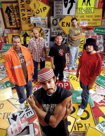 SIGN OF THE TIMES :  Ozomatli--pioneer of Spanish-English mash-ups of hip hop, salsa, cumbia, dub, and Middle Eastern funk--plays Nov. 11 at the SLO Vets Hall. - PHOTO COURTESY OF OZOMATLI