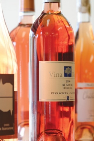 ROSE AWAY! :  San Luis Obispo's Monterey St. Wine Co. is just one place to find delicious Rose , a typically summer offering that's actually good all year long. - PHOTO BY STEVE E. MILLER