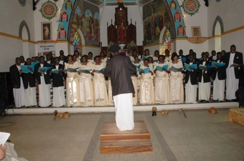 CALIFORNIA INTERNATIONAL CHORAL FESTIVAL :  The Vocal Arts Ensemble hosted the first-ever California International Choral Festival, welcoming seven choirs from five different countries to participate in the competition. Heavenly song resounded throughout San Luis Obispo County from June 28 to July 1. Pictured is the Christ the King Choir from Uganda. - PHOTO COURTESY OF CHRIST THE KING CHOIR
