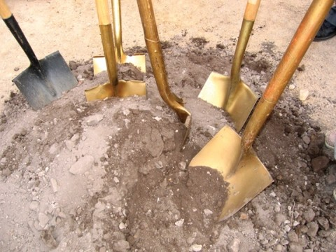 GOLDEN OPPORTUNITY :  Peoples' Self-Help Housing broke ground for 29 new affordable apartments in Avila Beach. In the City of San Luis Obispo, the group has been the recipient of funds paid from developers' in-lieu fees, and is building 27 apartments for low and very low income households. - PHOTO BY KATHY JOHNSTON