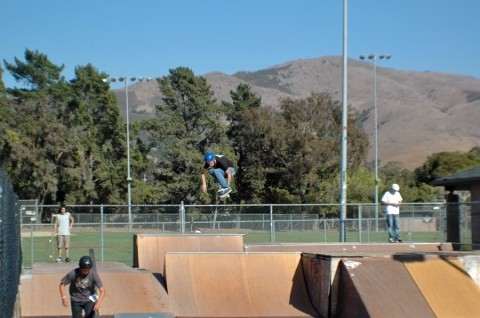 TRICKS OF THE TRADE :  Skateboarders who make use of the falling-apart facility in Santa Rosa Park are taking fundraising into their own hands with a series of contests, starting Dec. 2. - PHOTO COURTESY OF JOHN BURNS