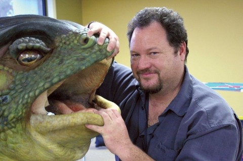THIS FROG IS NO PRINCE :  Visual Effects Supervisor Everett Burrell (pictured) spent five months in Spain working with director Guillermo del Toro balancing schedule, budget, and special effects. Some elements, such as the puppet frog, had to be totally replaced with computer graphics. - PHOTO BY CRAIG SHAFER