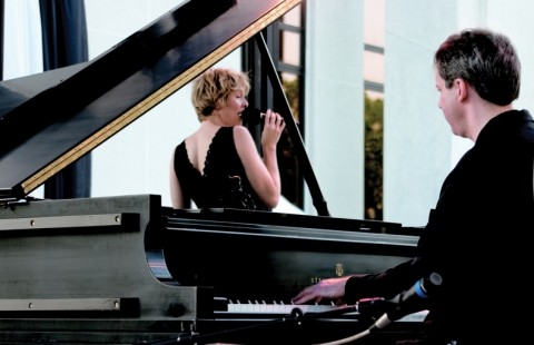 SWEET SOUNDS OF JAZZ :  Local jazz singer Inga Swearingen and touring piano great Bill Peterson play Oct. 19 at Cuesta College and again on Oct. 20 at Coalesce Bookstore. - PHOTO COURTESY OF INGA SWEARINGEN AND BILL PETERSON
