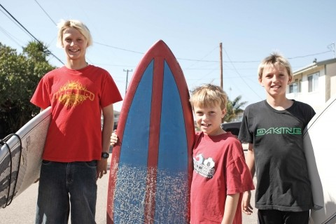 The Wilkie brothers keep surf in the family. - PHOTO BY STEVE E. MILLER
