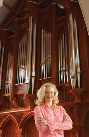 HITTING THE PIPES :  In the second of the popular Forbes Pipe Organ Recital series presented by Cal Poly Arts, Janette Fishell performs an afternoon concert on Feb. 3, in Harman Hall at the Cohan Center. - PHOTO COURTESY OF JANETTE FISHELL
