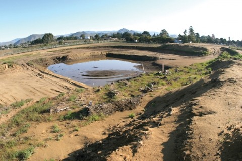 FUTURE SWIMMING POOL?:  Like the Phoenix rising from the ashes, a new Los Osos park could ascend from the post-sewer rubble now known as the Tri-W site, but don't get too excited — the plans are still embryonic. - PHOTO BY CHRISTOPHER GARDNER