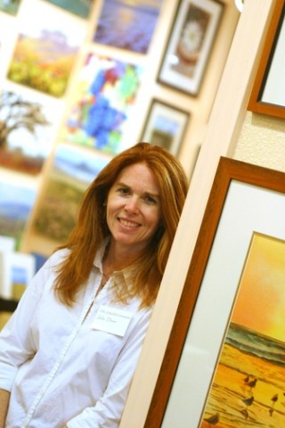 WOMAN WITH A PLAN:  Julie Dun one of three owners of The Gallery in the Network rents display space to other artists to keep the gallery afloat