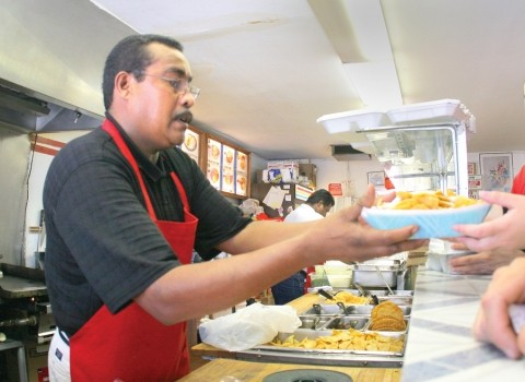 TASTE OF HOME :  Fernando Patricio serves up common Mexican fare packed with uncommonly savory flavors at Tacos De Acapulco. - PHOTO BY CHRISTOPHER GARDNER