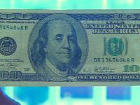 Forgers bleach a $5 bill and then print a $100 bill onto it, like this one found in a similar case in the Midwest. - PHOTO COURTESY OF WNDU TV NEWS CENTER