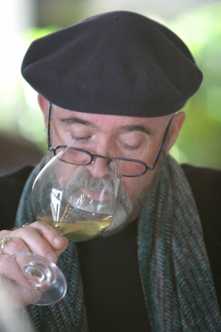 THE NOSE KNOWS:  Central Coast Wine Classic founder Archie McLaren proved best at determining more expensive wines from least expensive. - CHRISTOPHER GARDNER