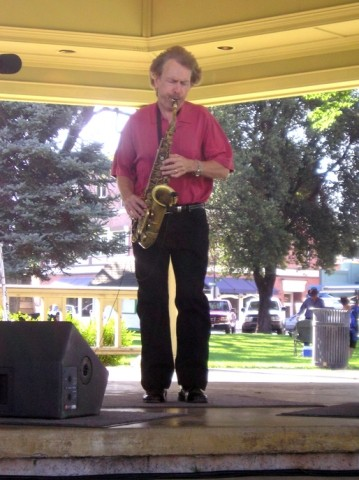 SAVAGE SAX :  Smooth jazz sax man Bryan Savage plays the opening concert of Paso Robles Concerts in the Park summer series on June 22 in the City Park Bandstand. - PHOTO COURTESY OF BRYAN SAVAGE