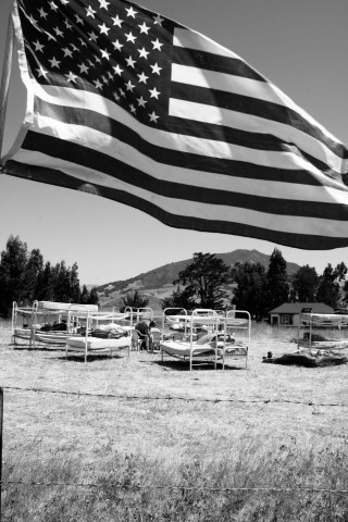 BED TACTICS :  In August, a long-running permit and zoning battle between the county and Sunny Acres owner Dan De Vaul took a public turn as residents of the self-styled sobriety center set up steel bunk beds along Los Osos Valley Road. They slept outdoors to draw attention to the facility, which they argue picks up where the county fails.