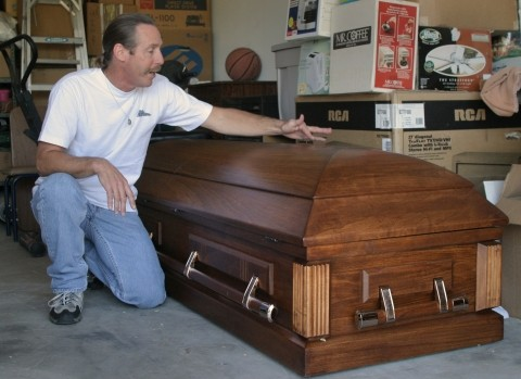 "A FATHER'S GRIEF :  In March, Bill Mitchell joined the worldwide protest in San Luis Obispo, carrying a big photo of his son that read, ""Bring my son home now.� A week later Sgt. Michael Mitchell died while attempting to rescue a platoon of U.S. soldiers in Sadr City — killed in an occupation his father had worked so hard to end."