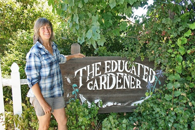 "WEB OF LIFE:  Self-described ""nature freak"" and owner of The Educated Gardener, Simone Smith, believes you should think before you spray. - PHOTO BY HAYLEY THOMAS"